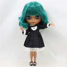 Factory Neo Blythe Doll Short Deep Green Hair Jointed Body 30cm