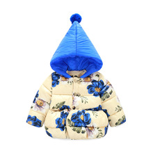 Winter Jacket Girls Child Girls Down Coat Parkas With Animal Floral Printed Hooded Kids Down Jackets Girls Outerwear Coats
