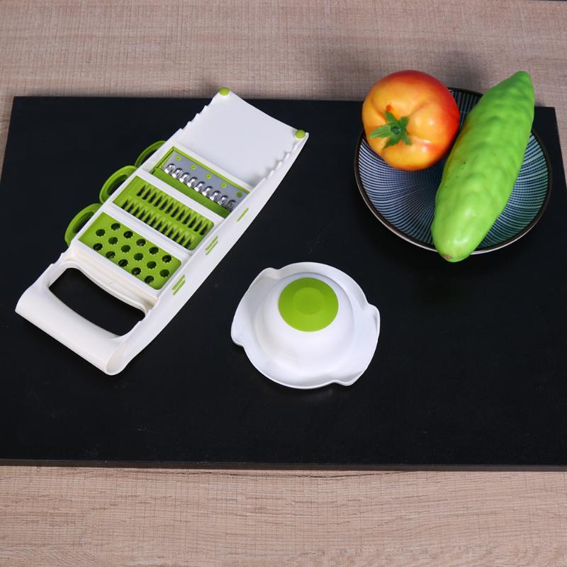 5 In 1 Multifunction Fruits Vegetable Cutter Grater Adjustable Steel Blade Vegetables Shredder Slicer Kitchen Cookwares