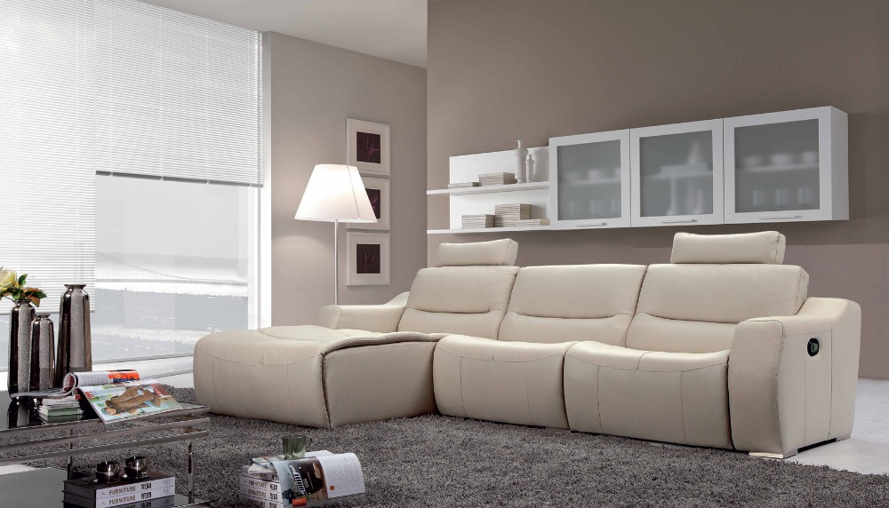 Cow genuine real leather sofa set living room sofa for Living homes sofas
