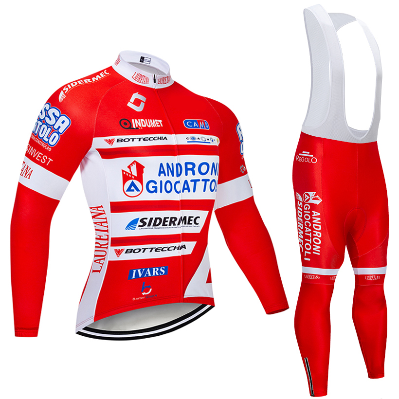 New TEAM ANDRON CYCLING JERSEY Bibs pants set Ropa Ciclismo MENS winter thermal fleece pro Bike