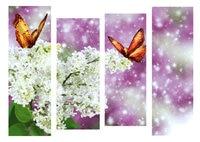 3D Diamant Malerei Kreuzstich Muster 5D Diamant schmetterling Stickerei Mosaik strass Weiß lila blumen icon Wohnkultur