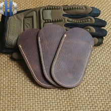 Scalp Leather Case Genuine Knife Set Folding Scabbard EDC Tools Suitable For Length 10-13cm
