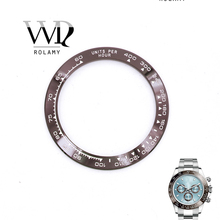 Rolamy Wholesale High Quality Ceramic Brown with White Writing 38.6mm Watch Bezel for DAYTONA 116500 - 116520