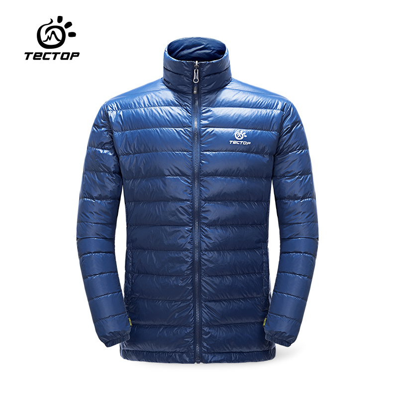 TECTOP Outdoor Winter Men Down Jackets Male Lightweight Thin Thermal Down Coat Skiing Hiking Down 90% White Duck Down Jackets
