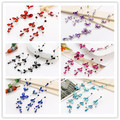 Wholesale Brilliant Crystal Women's Jewelry Set  Bridal Wedding Accessory Flower Design Chokers Necklace Earring Set