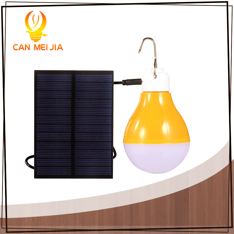 New Solar Light 7W USB Rechargeable Outdoor High brightbess lamp with Solar Powered Lights Portable Energy Bulb for Camping