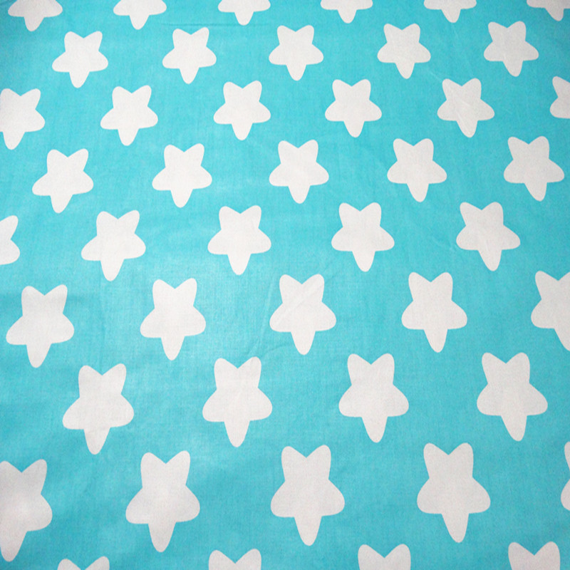 Enthusiastic Syunss Sky Blue Star Print Cotton Fabric Diy Tissue Patchwork Telas Sewing Baby Toy Bedding The Cloth Quilting Tecido The Cloth Apparel Sewing & Fabric