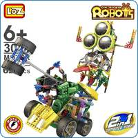 LOZ Motor Building Toys For Boys 3 Eyed Robot Brick Block Electric Technical Combined Robot Plastic