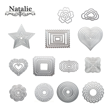 2018 New Heart Rectangle Circle Metal Cutting Dies Set for Scrapbooking Die Cut Paper Card Diy die cutter(China)