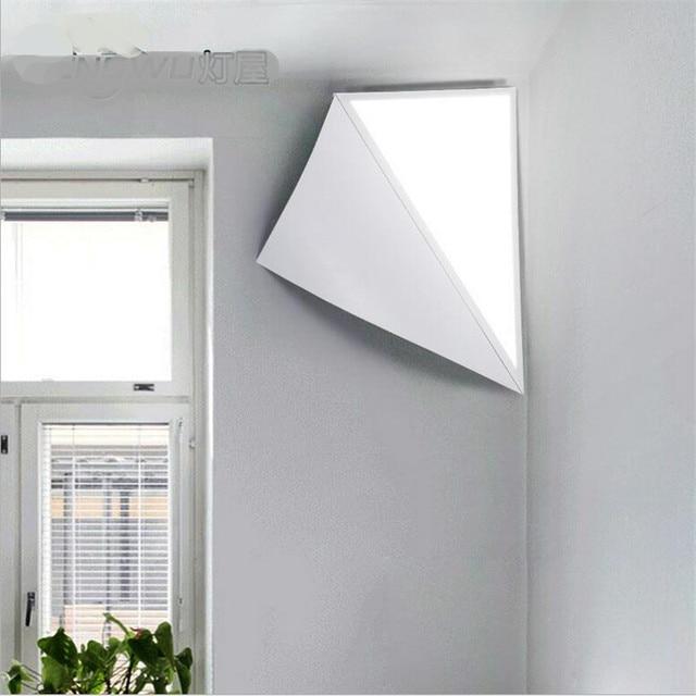 Creative magic diy 3d geometric aluminum acryl led 26w corner wall creative magic diy 3d geometric aluminum acryl led 26w corner wall lamp for living room bedroom mozeypictures Images