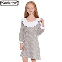 Sanlutoz Winter Girls Dress Long Sleeve Kids Clothes Toddler Children Dress 2017 New Brand Fashion Princess