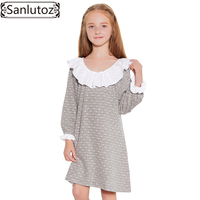Sanlutoz Winter Girls Dress Long Sleeve Kids Clothes Toddler Children Dress 2017 New Brand Fashion Princess