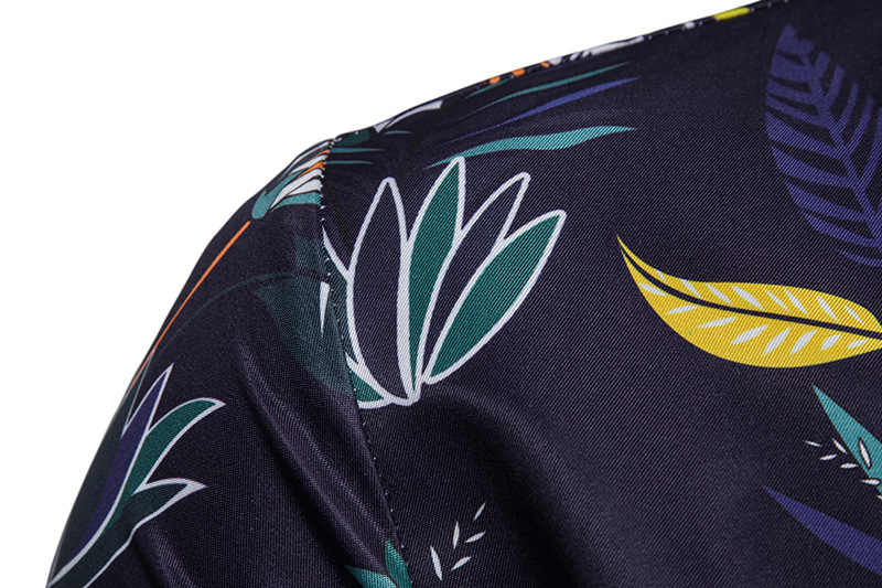 Летняя гавайская рубашка 2019 Роскошная брендовая 3D рубашка с цветочным принтом мужская Тонкая рубашка с коротким рукавом мужская рубашка Уличная Повседневная рубашка