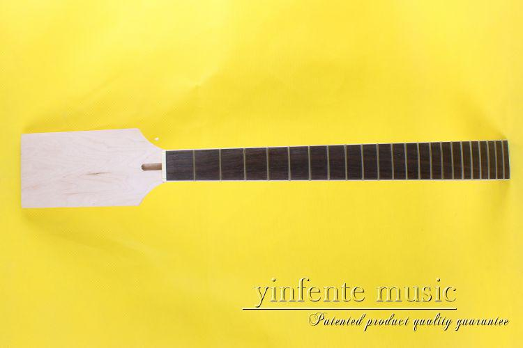 one good 22 fret  new binding Unfinished electric guitar    neck 0110# maple made rose wood  fingerboard 7313 new one black 22 fret white good unfinished electric guitar neck maple made and maple fingerboard