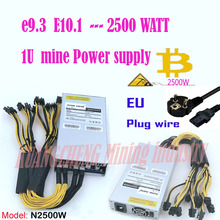 ASIC miner BTC miner PSU 1U 2500 Вт 12 в порт 6pin* 13 подходит для Antminer S9k s9 Ebit E9i E9+ E10.1.2.3 E9.3 Z1 WhatsMiner M3