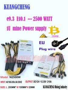 ASIC minatore BTC minatore nuovo PSU 1U 2500w 12V porta 6pin * 13 Adatto per Antminer S9k s9 ebit E9i E9 + E10.1.2.3 E9.3 Z1 WhatsMiner M3(China)
