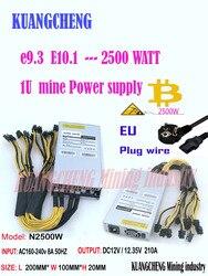 ASIC minero BTC minero nueva PSU 1U 2500w 12V Puerto 6pin * 13 adecuado para Antminer S9k s9 el Ebit E9i E9 + E10.1.2.3 E9.3 Z1 WhatsMiner M3
