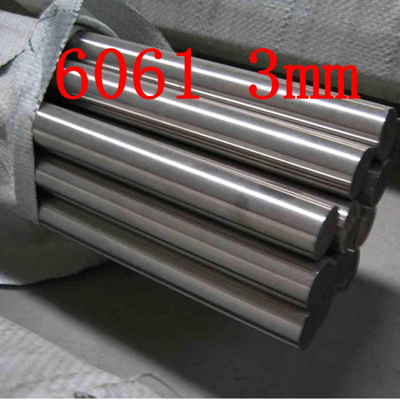 3mm DIAMETER 6061 T6 AL ALUMINIUM BAR / BILLET 3MM