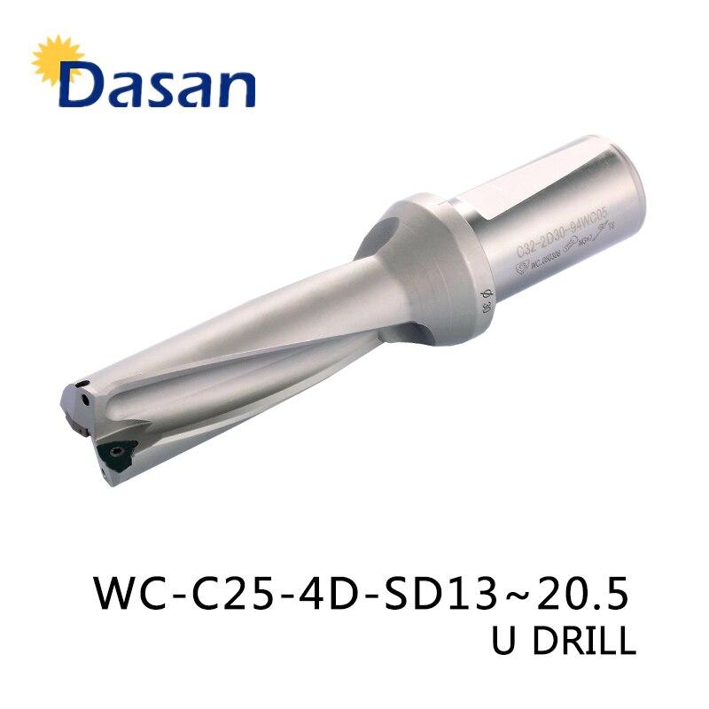 WC C25 4D 13 14 15 16 17 18 19 20mm Indexable Mèche Outil U Type Tour métal Outils De Forage pour WCMT030208 Insérer