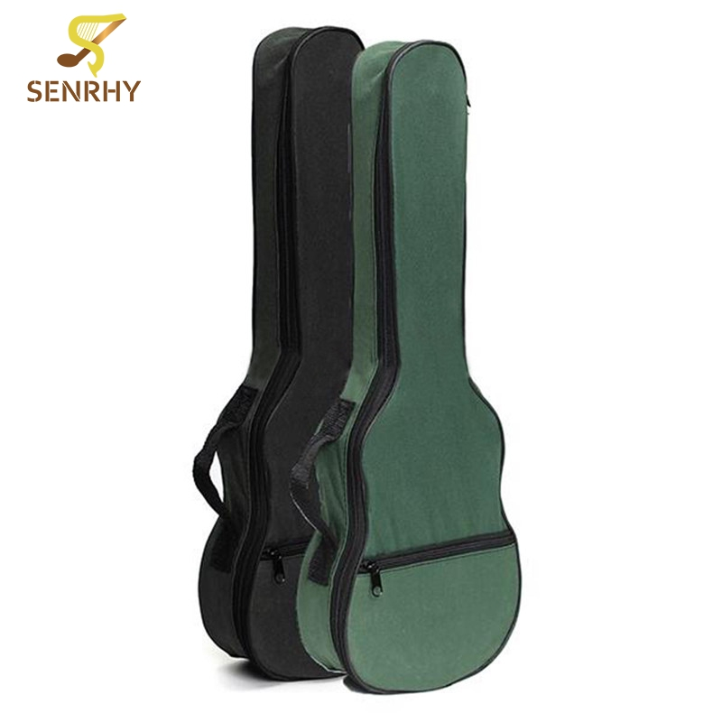 New Ukulele Soft Shoulder Black Green Carry Case Bag Musical With Straps For Acoustic Guitar Parts &Accessories 12mm waterproof soprano concert ukulele bag case backpack 23 24 26 inch ukelele beige mini guitar accessories gig pu leather