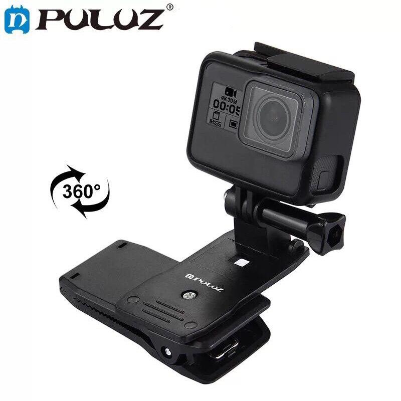 Rotate Backpack Clip Clamp Mount for GoPro Hero 7/6/5/4/3+3 Xiaomi Yi 4K Lite SJCAM SJ4000 EKEN H9/H9R Sports Camera Accessories
