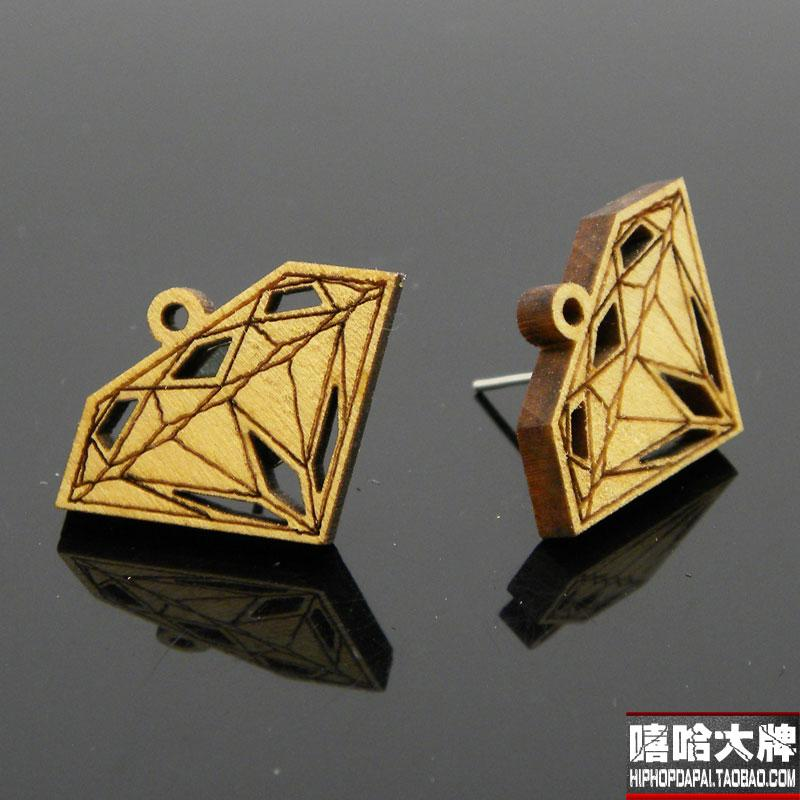 Goodwood Good Wood Nyc Hiphop Wool Accessories Stud Earring In Earrings From Jewelry On Aliexpress Alibaba Group