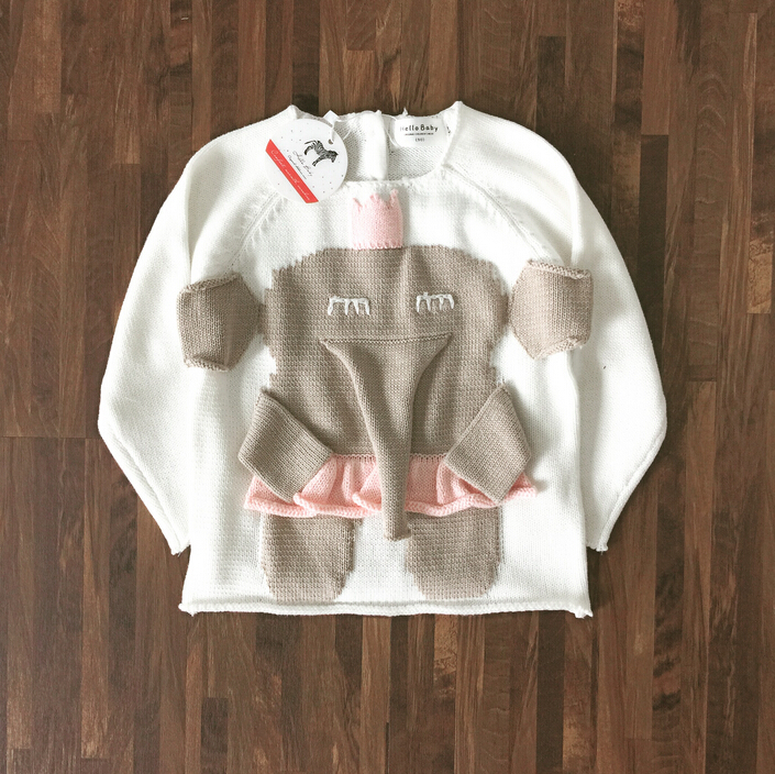 Knitting Jumpers For Elephants Fake : New winter baby girl sweater elephant woolen knit