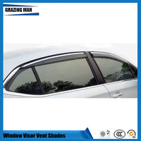 Car accessories PP window Visor Vent Shades Sun Rain Deflector Guard 4PCS/SET for C4L sun visor