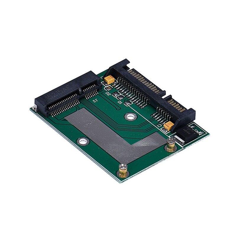 Mini PCI-e MSATA 2.5inch SATA Adapter Konverter Card Modul Blau Grün  Board BAF