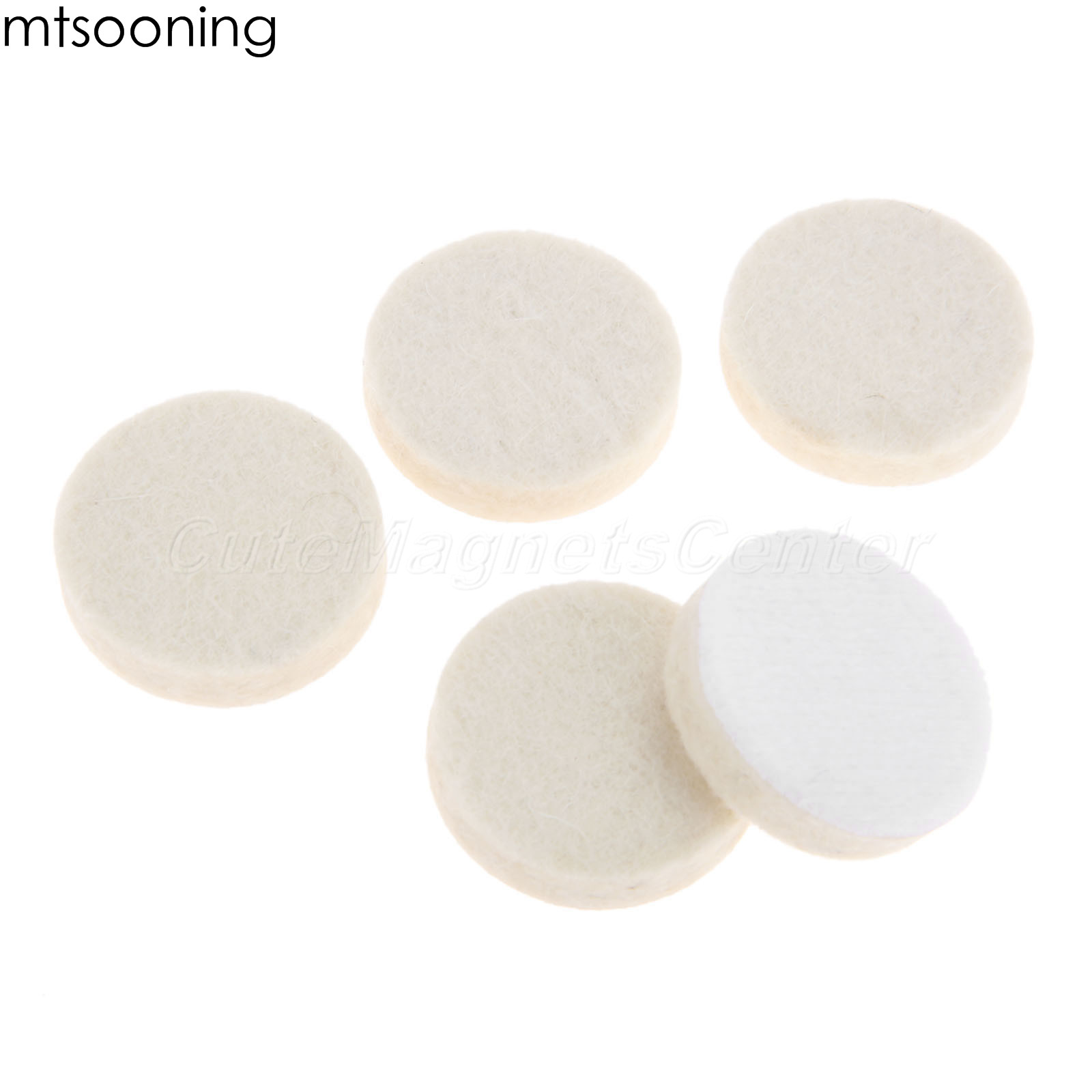 mtsooning 20 pces 1 polegada 25mm redonda de pelucia la polimento disco roda folhas almofadas carro