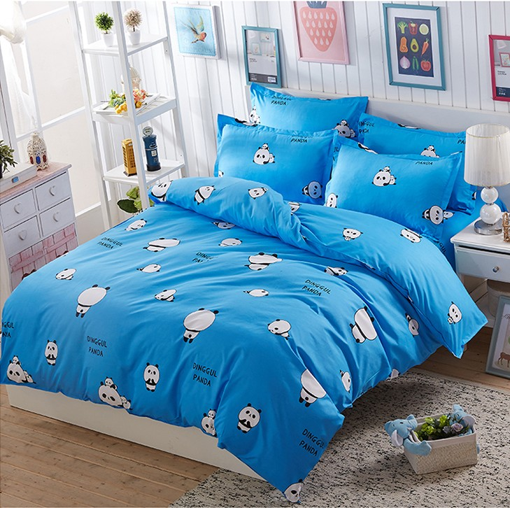 100% cotton Bedding set cartoon Printing Minions bedclothes Baby children kids bed linen duvet cover set
