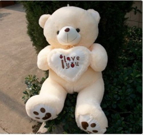 100CM Giant Huge Big Soft Plush White Teddy Bear Halloween Christmas Gift Valentine's Day Gifts fancytrader biggest in the world pluch bear toys real jumbo 134 340cm huge giant plush stuffed bear 2 sizes ft90451