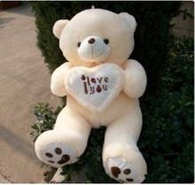 100CM Giant Huge Big Soft Plush White Teddy Bear Halloween Christmas Gift Valentine's Day Gifts