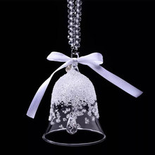 Christmas Nordic Home Decor Accessories Crystal Glass Wind Chimes Outdoor Wall Hanging Decorations ornaments Feng Shui Gifts(China)