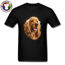 Cute Dog Cocker Spaniel GN Tshirts Short Sleeve Casual Slim