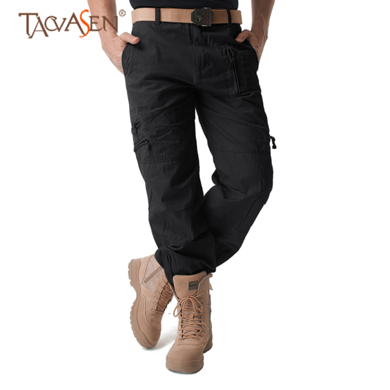 TACVASEN Men Tactical Cargo Pants Multi-pocket Military Combat Pants Outdoor Sports Trousers Hunting Hiking Pants Plus Size(China)