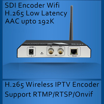 H.265/H.264 SDI WIFI IPTV Encoder Wireless SDI Video Encoder for IPTV broadcasting support RTMP RTSP ONVIF