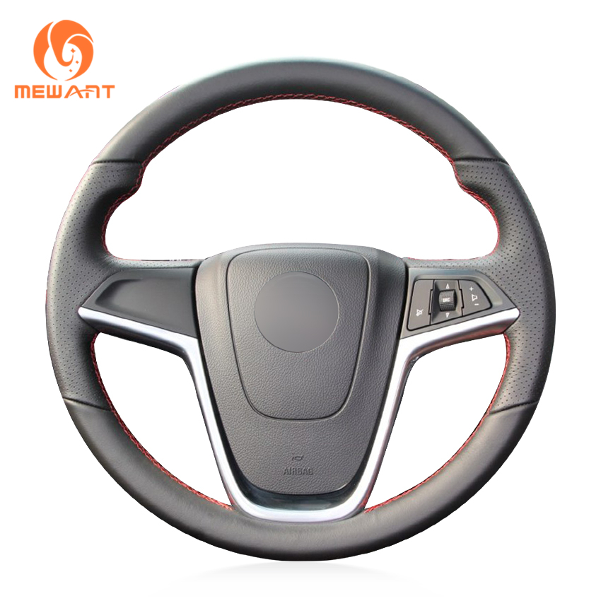 MEWANT Black Artificial Leather Steering Wheel Cover for Opel Mokka 2013-2016 Opel Insignia 2009-2013 Astra J 2010-2015 Meriva багажник на крышу lux opel meriva 2010 1 2м прямоугольные дуги 694074