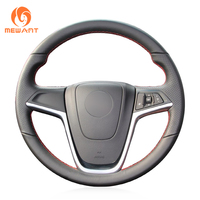MEWANT Black Artificial Leather Steering Wheel Cover for Opel Mokka 2013 2016 Opel Insignia 2009 2013 Astra J 2010 2015 Meriva