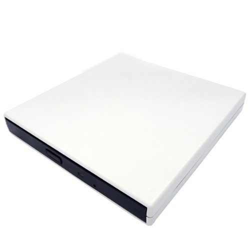 ホワイト新スリム USB 2.0 外部スリム USB 2.0 CD-ROM ドライブ Msi の風 U100 U120 U123 VR220 EX300 シリーズアーマードラップトップ