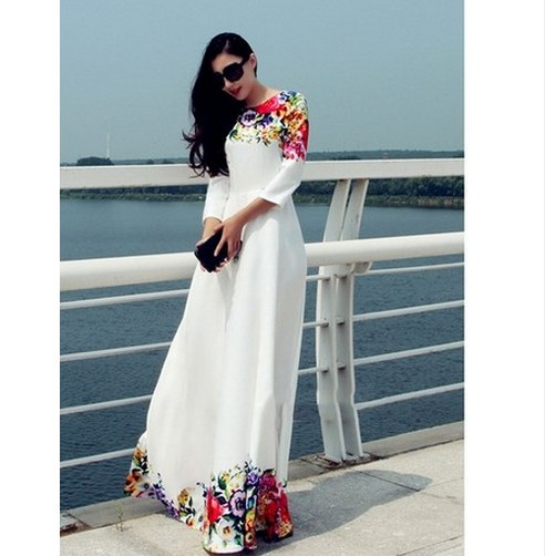 Women African Clothing Real Dresses Robe Africaine 2019 Women's Wear In Spring And Summer Fashion Printing Dress