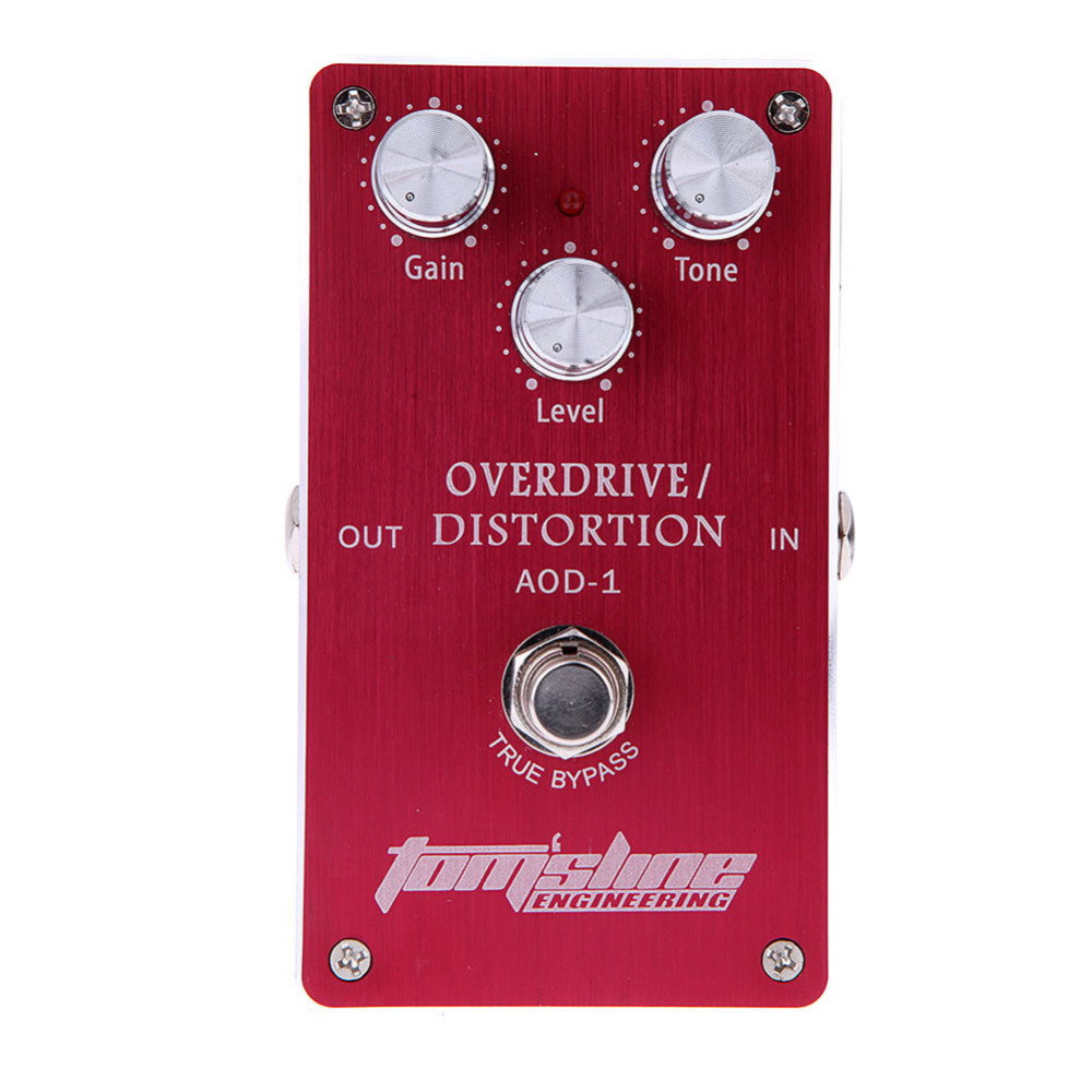Tomsline AOD-1 Overdrive Distortion Electric Guitar Effect Pedal Aluminum Alloy Housing True Bypass Design Guitar Pedal aroma adl 1 aluminum alloy housing true bypass delay electric guitar effect pedal for guitarists hot guitar accessories