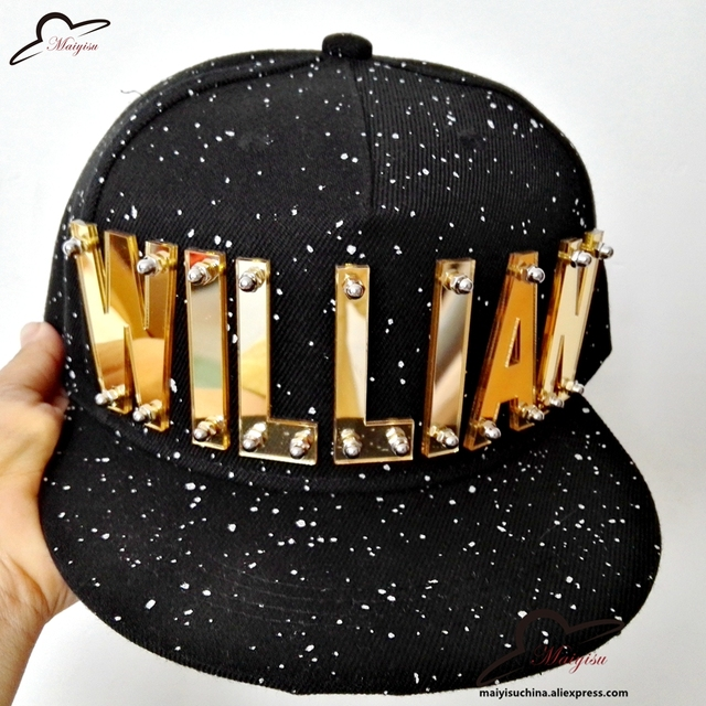 3D Letter GIRL rivet hiphop cap hiphop cap baseball performance hat men cap  dance snapback hats 644109c127a