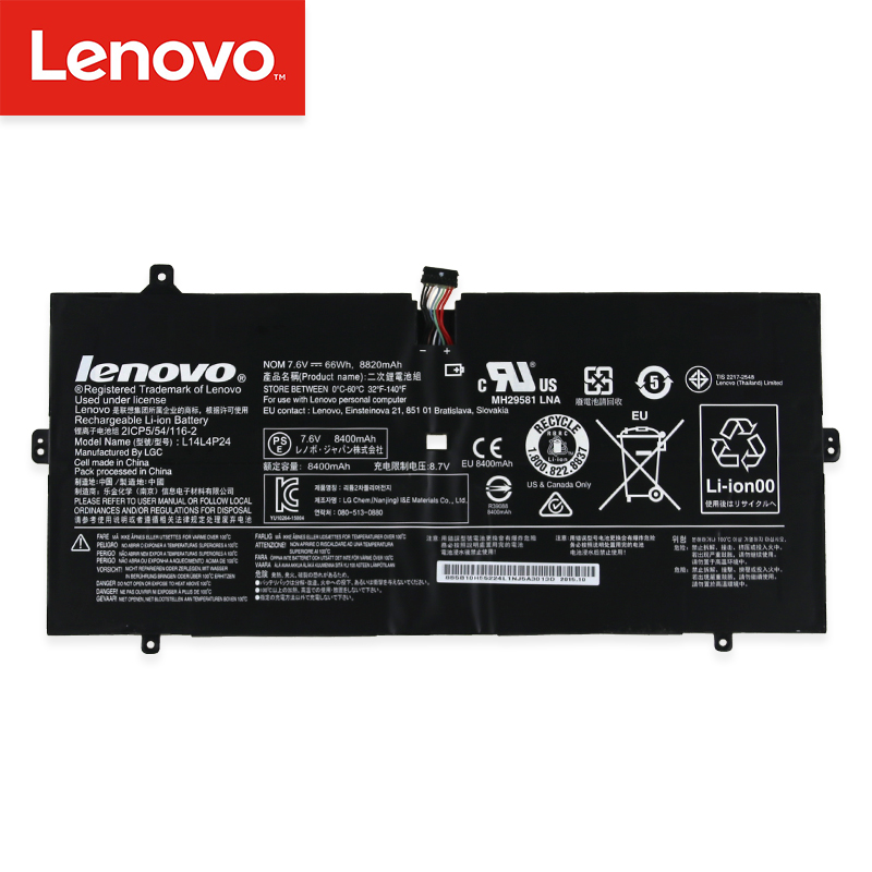 ✔  Оригинальный аккумулятор для ноутбука Lenovo YOGA 4 PRO 900 900-13ISK 900-IFI 900-ISE 5B10H43261 L14 ★