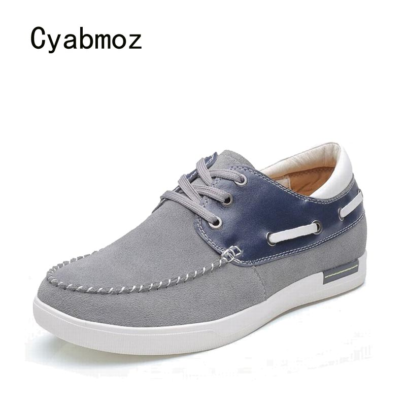 Cyabmoz Fashion Brand Men Height Increasing Shoes Elevator Platform Mixed colors Lace up Invisibly 6cm Driving Casual Man Shoes 2 36 inches taller height increasing elevator shoes black blue red casual leather shoes soft sole soft surface driving shoes