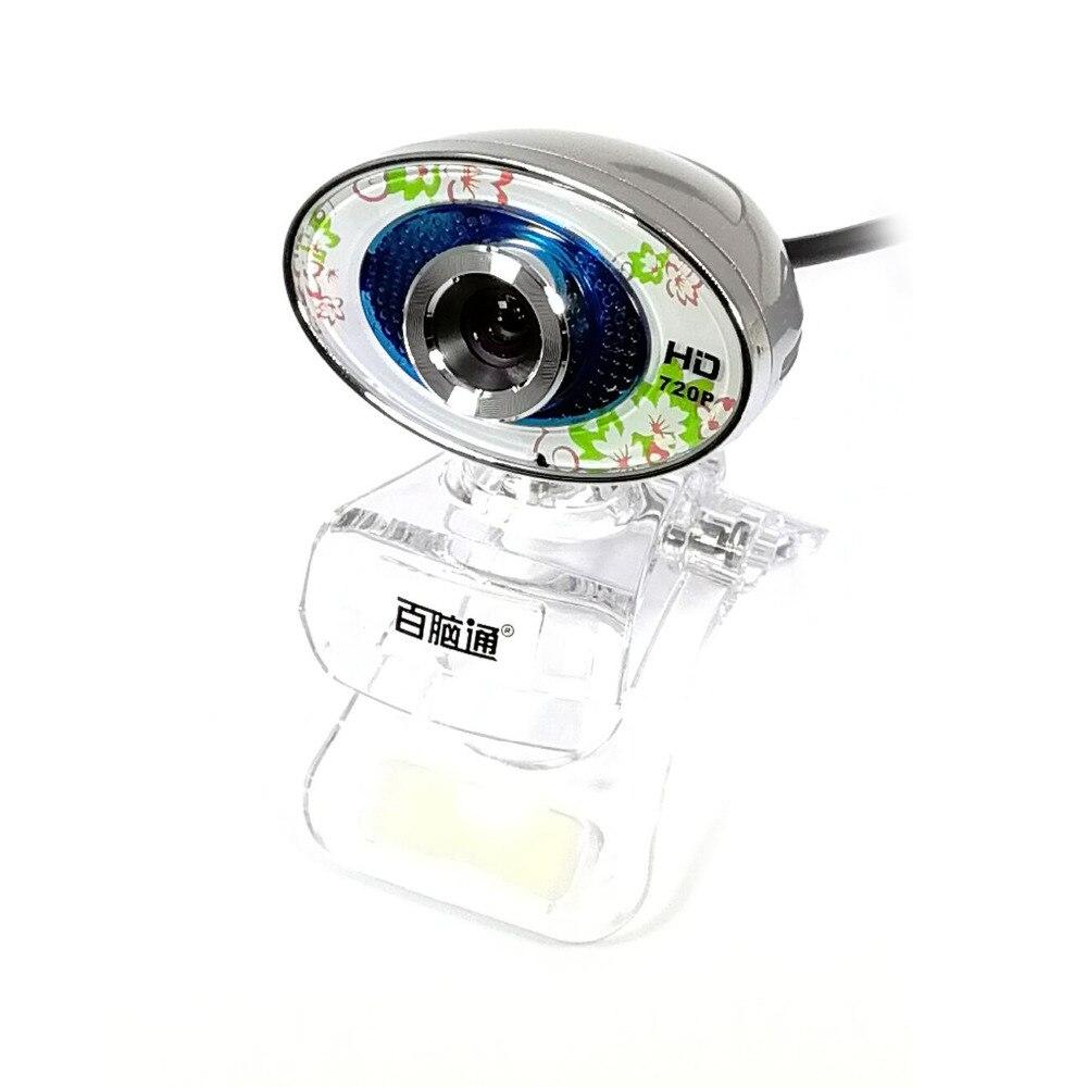 Aoni Бесплатная диска HD 720 P USB компьютера камера для настольных ноутбук с зажимом, шум шумоподавления веб-Камера С микрофоном Вращающийся