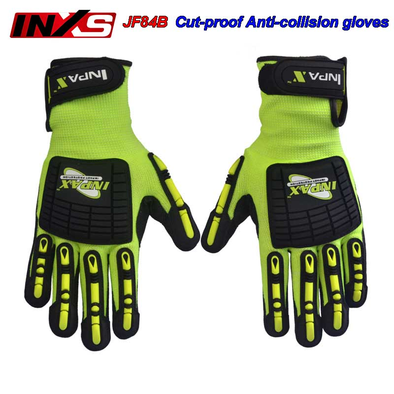 SAFETY-INXS JF84B safety gloves Anti-impact Cut-proof Anti-puncture Protective gloves locomotive Riding Wear-resistant gloves strong 0 35mmpb medical x ray protective gloves ray workplace use gloves lead rubber gloves