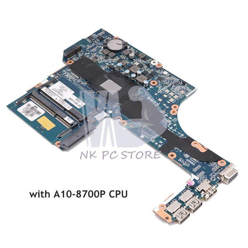 NOKOTION 828431-601 828431-001 For <font><b>HP</b></font> probook <font><b>455</b></font> G3 Laptop <font><b>Motherboard</b></font> DAX73AMB6E1 DDR3 A10-8700P CPU full tested image