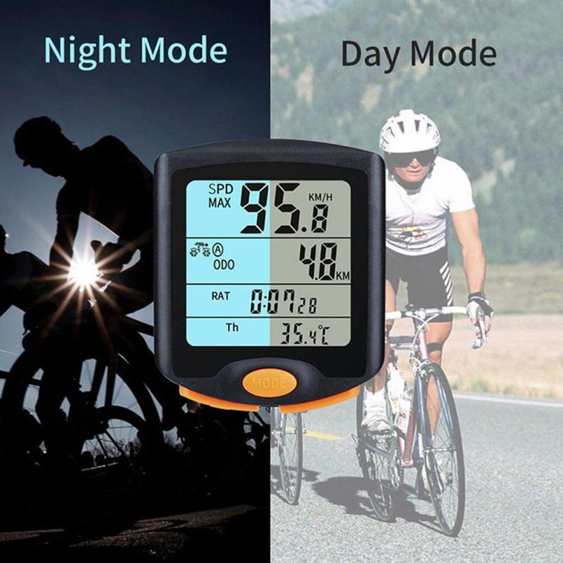 Bike Digital Stopwatch Cycling Waterproof Bicycle Cycle Computer Odometer Speedometer Backlight Good Hot  Sale Dropshipping